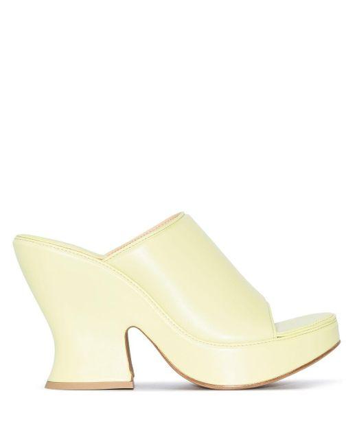 Bottega Veneta プラットフォーム ミュール Yellow