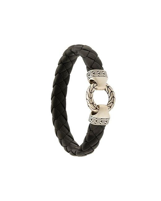 John Hardy 'Classic Chain' Armband in Black für Herren