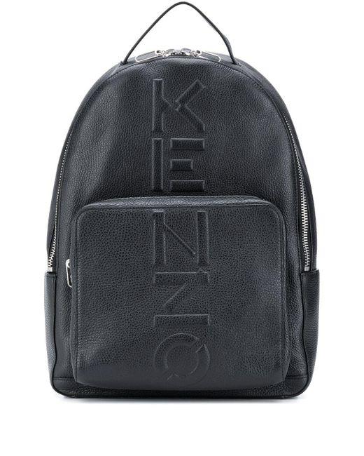 メンズ KENZO エンボスロゴ バックパック Black