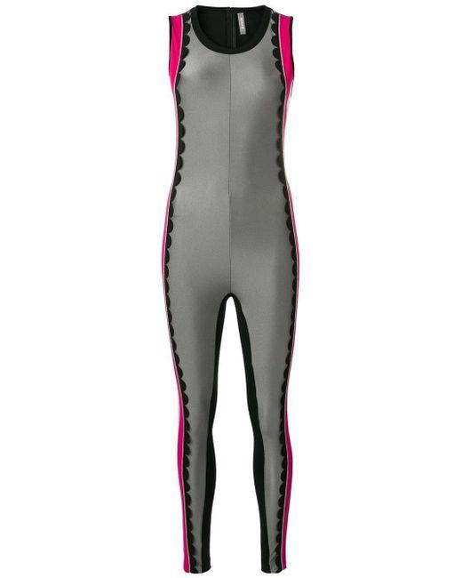 No Ka 'oi スカラップ ジャンプスーツ Multicolor