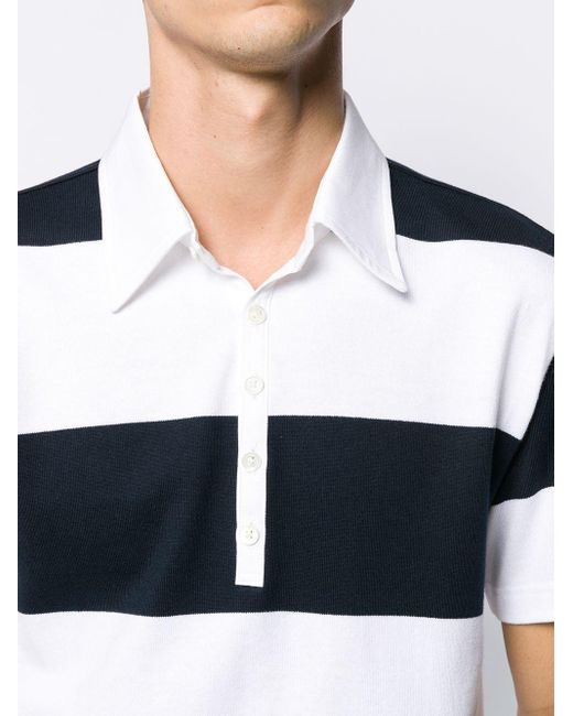 Рубашка Поло В Полоску Thom Browne для него, цвет: Blue