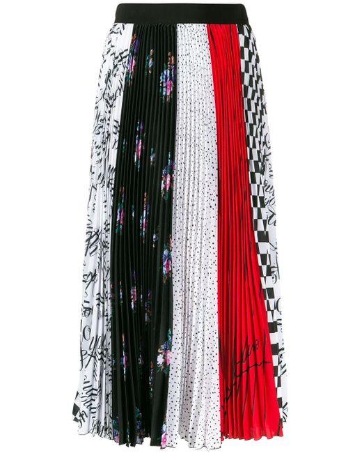 MSGM プリント プリーツスカート Multicolor