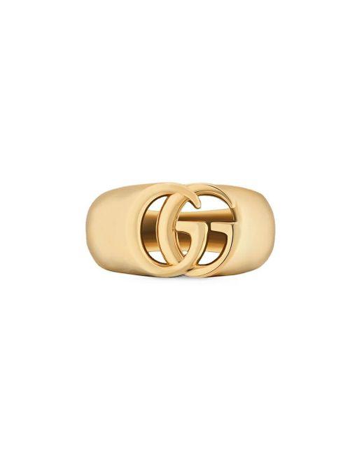 Gucci GGランニング シュバリエ リング 18kイエローゴールド Metallic
