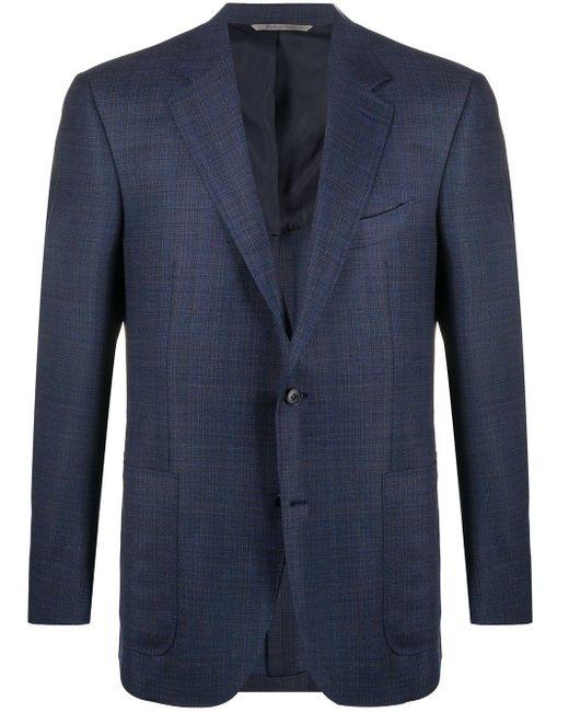 メンズ Canali チェック ジャケット Blue