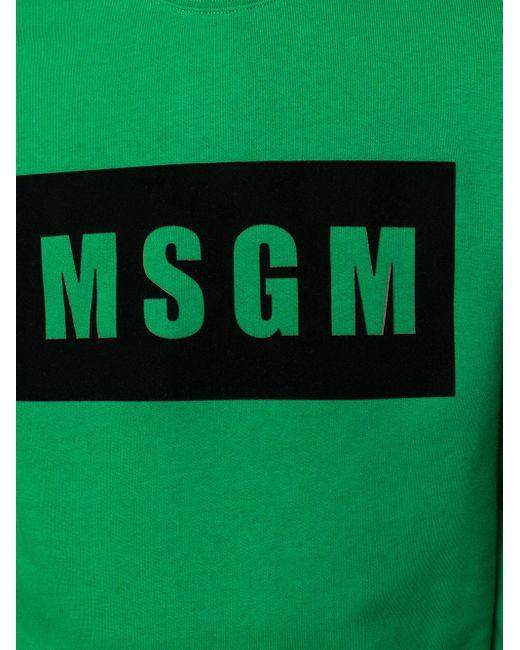 Толстовка С Логотипом MSGM для него, цвет: Green