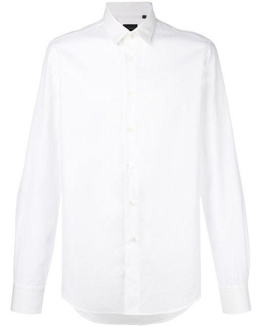 Dell'Oglio - White Diamond Jacquard Shirt for Men - Lyst