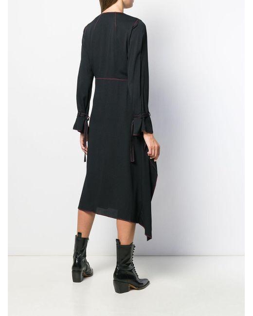 Sies Marjan ドレープネック ドレス Black