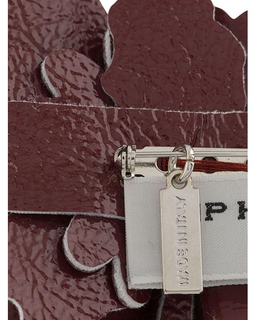 Брошь С Цветочной Аппликацией Philosophy Di Lorenzo Serafini, цвет: Red