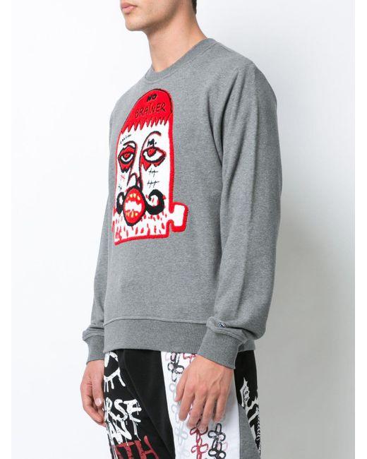 メンズ Haculla No Brainer スウェットシャツ Gray