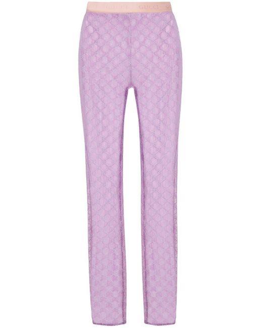 Прозрачные Легинсы С Вышитым Логотипом GG Gucci, цвет: Multicolor