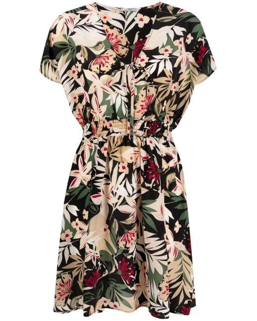 Liu Jo トロピカルプリント Vネックドレス Multicolor