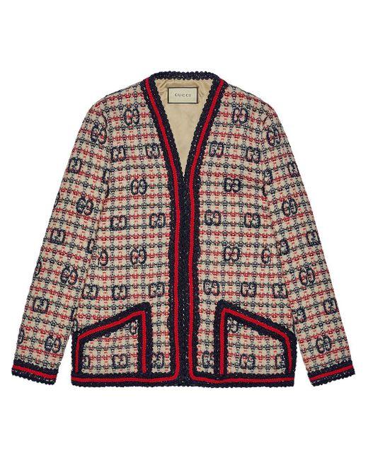 Gucci GG パターン ツイードジャケット Multicolor