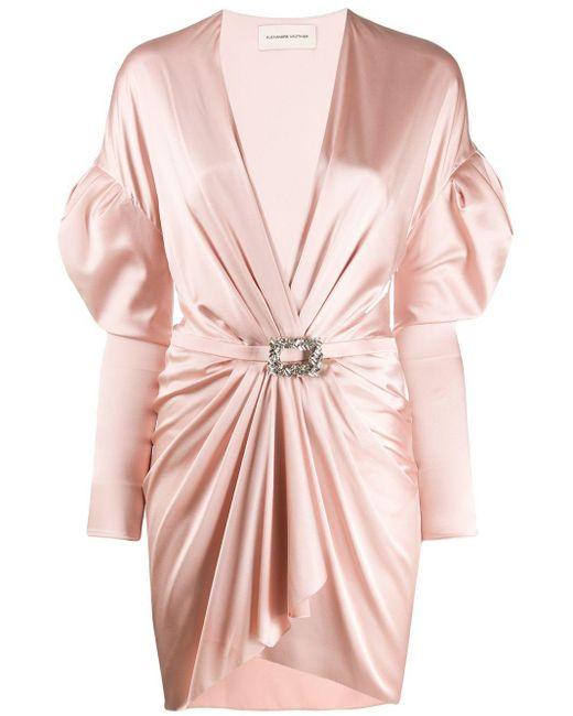 Alexandre Vauthier ブローチ ドレス Pink
