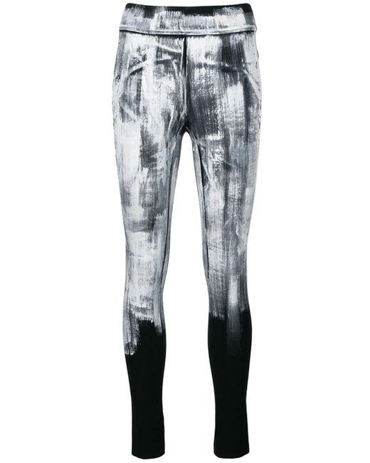 No Ka 'oi Black Paint Print Performance leggings