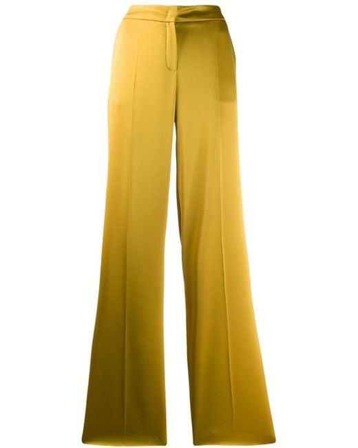 ESCADA ハイウエスト フレアパンツ Yellow