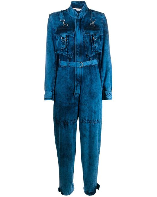 Stella McCartney デニム ジャンプスーツ Blue
