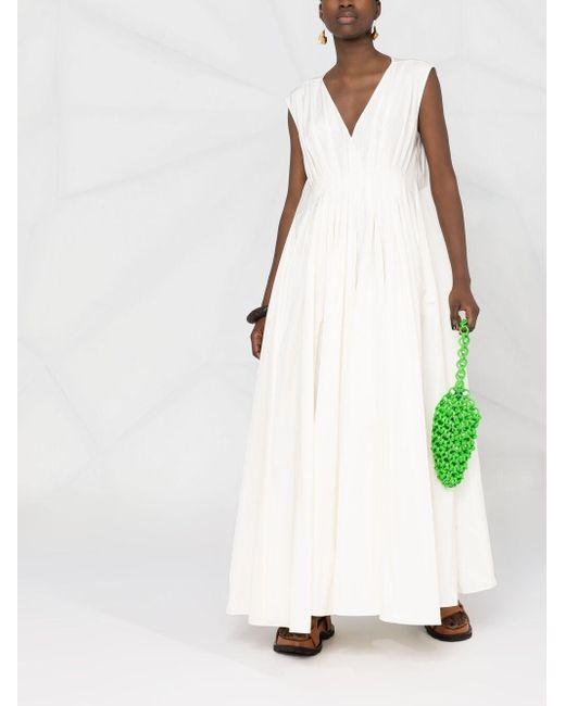 Co. シャーリング Vネックドレス Multicolor