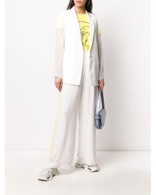 Karl Lagerfeld シアースリーブ ジャケット White