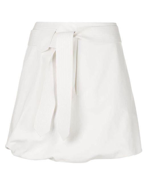 Ferragamo ベルテッド ミニスカート White