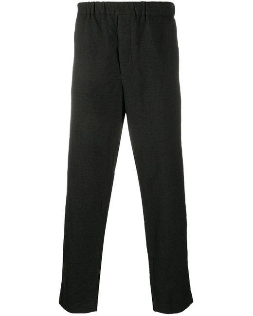 Pantaloni con vita elasticizzata di Casey Casey in Black da Uomo