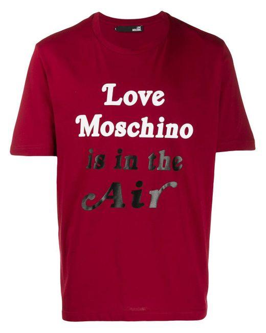 メンズ Love Moschino Is In The Air Tシャツ Multicolor