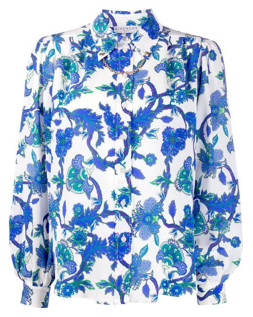Givenchy フローラル シャツ Blue