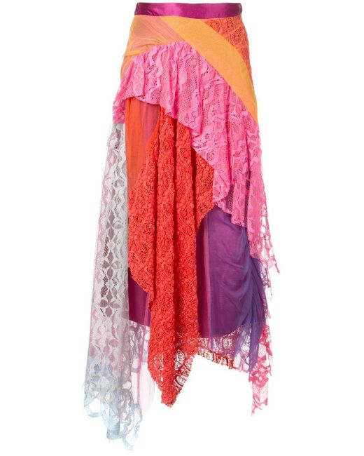 Sies Marjan ラッフル ミディスカート Multicolor