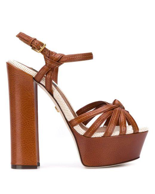 Dolce & Gabbana ストラップ サンダル Brown