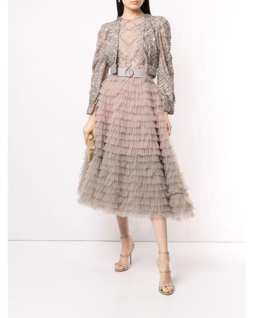 Saiid Kobeisy ラッフル ドレス Multicolor