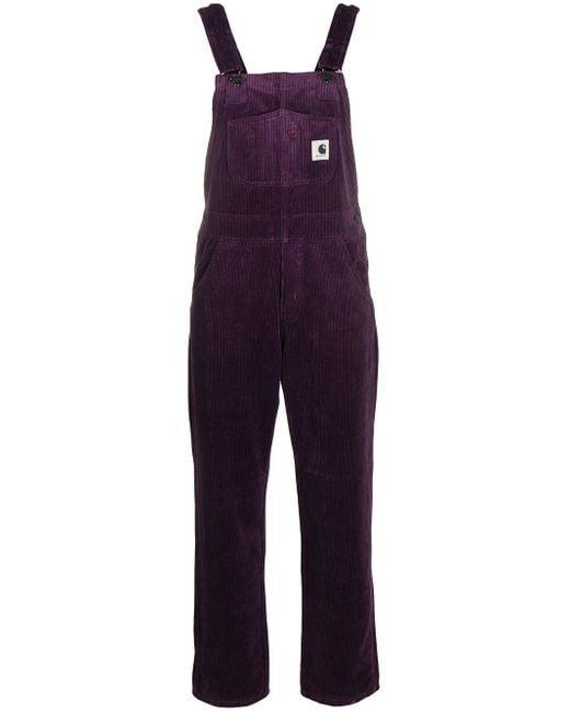 Carhartt WIP コーデュロイ オーバーオール Purple