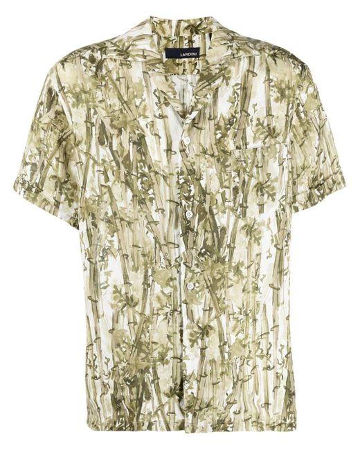 Lardini Hawaiihemd mit botanischem Print in Green für Herren