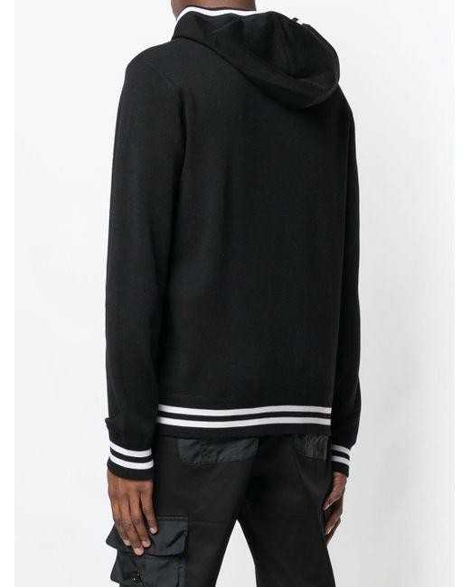 Худи С Вышитым Логотипом Dolce & Gabbana для него, цвет: Black