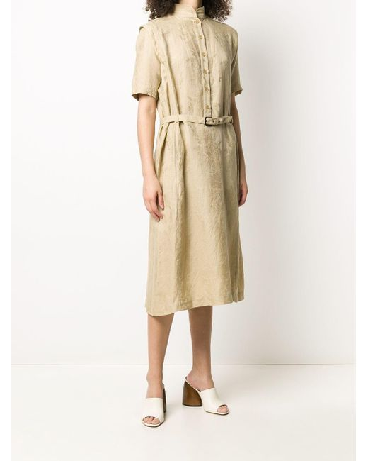 Dior 1980s プレオウンド ベルテッド ドレス Natural
