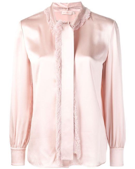 Tory Burch Pink Loose Fit Blouse