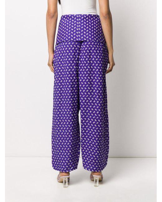 KENZO プリント ワイドパンツ Purple