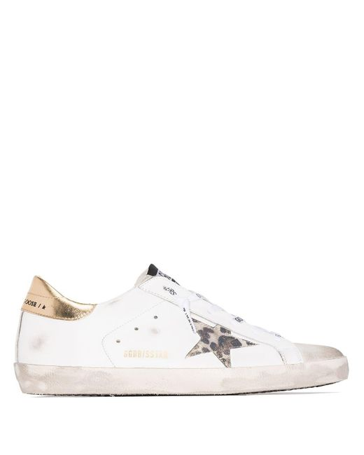 Golden Goose Deluxe Brand White Superstar Leather Sneakers