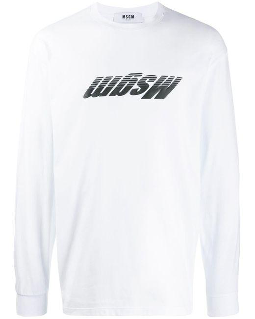 メンズ MSGM ロゴ スウェットシャツ White