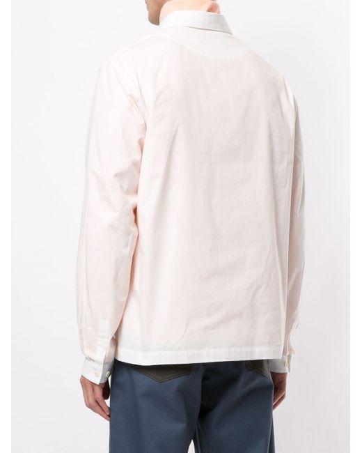 メンズ Sunnei ロゴパッチ シャツ White