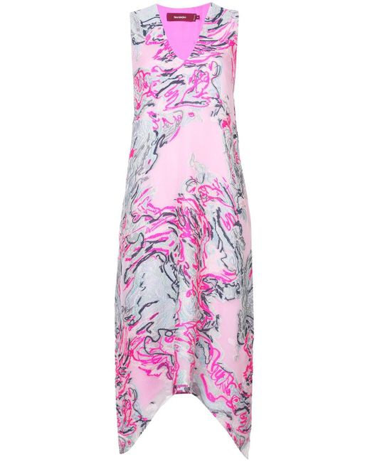Sies Marjan White Embroidered Print Dress