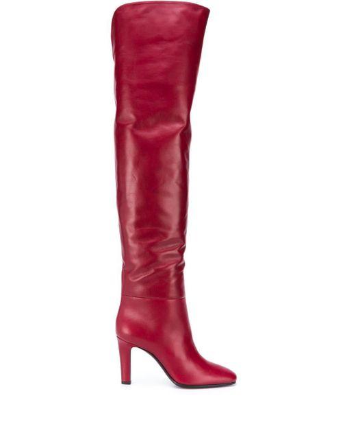 Ботфорты Jane Saint Laurent, цвет: Red