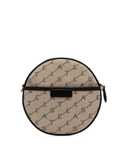 Stella McCartney Brown Mini Round Logo Bag