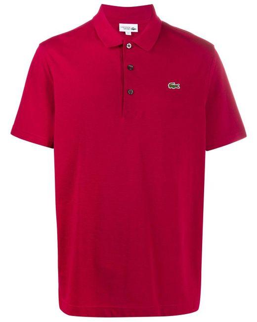 メンズ Lacoste ロゴ ポロシャツ Red