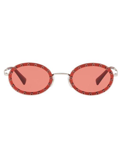 Valentino Garavani Metallic Round Frame Sunglasses