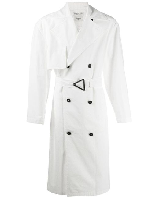 メンズ Bottega Veneta オフホワイト オーバーサイズ トレンチ コート White