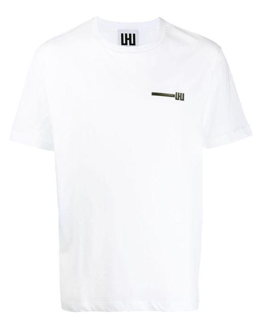 メンズ Les Hommes ロゴ Tシャツ White