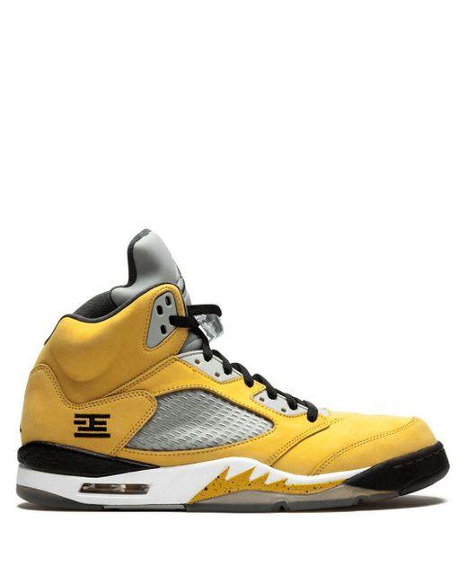 メンズ Nike Air 5 Retro T23 スニーカー Yellow