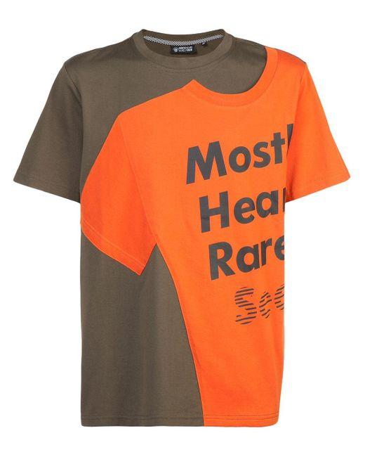 メンズ Mostly Heard Rarely Seen ロゴ Tシャツ Orange