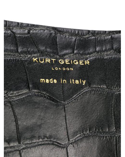 Kurt Geiger クロコエンボス ハンドバッグ Black