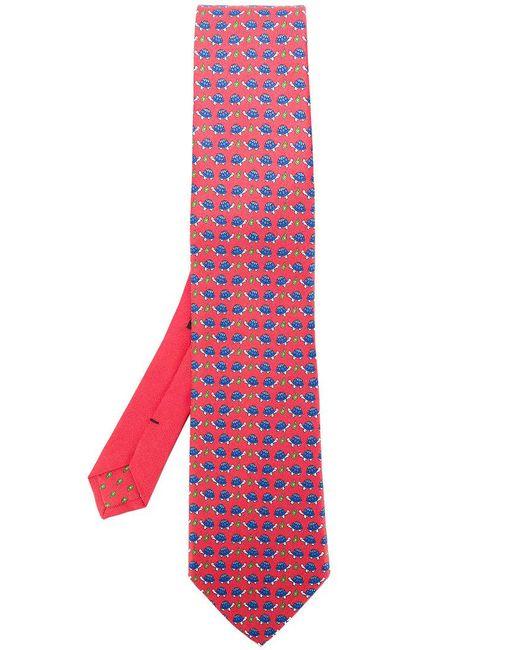 Etro | Red Tortoise Print Tie for Men | Lyst