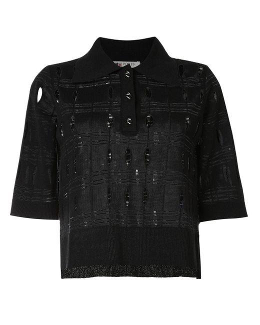 Ports 1961 パーフォレーテッド ポロシャツ Black